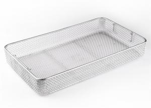 China 304 316 316L Stainless Steel Wire Mesh Basket For Drying Herbs Silver / Gold Color on sale