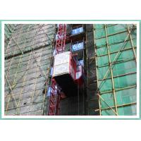 Twin Cages Construction Site Building Material Lift , Rack And Pinion Elevator Manufacturers
