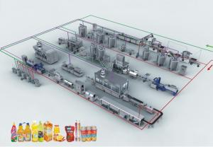 China Asifahe All in One Milk / Yogurt /Juice Produce Processing Making Plant Line Machine Machinery on sale