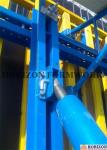 Q235 Steel Channel Single Sided Wall Formwork Supported By Telescopic Brace