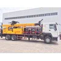 6x4 Truck mounted water well drilling rigs 600m hydraulic borehole , big diameter