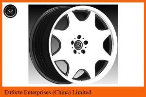China Суша катит - сторона зеркала колес алюминиевого сплава формы плиты выкованная черная ширину 8,5 до 12 дюймов on sale