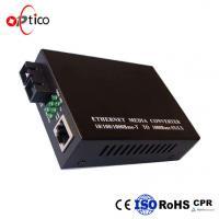 100/1000M SFP Optical Transceiver Media Converter AC/DC 5 V 1 Fiber Tx1550nm/ Rx1310nm 20km