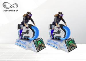 China Motorbike 9D VR Car Racing Game Machine / Virtual Reality Driving Simulator on sale