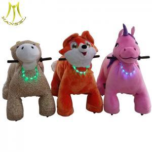 China Hansel Panyu China plush electric stuffed animal unicorn on wheels with led on sale
