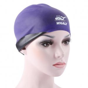 China Premium Silicone Swim Cap Reversible Wrinkle Free Swimming Cap For Men and Women on sale