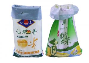 China High Strength Bopp Laminated Pp Woven Bags 25kg Rice Packing Eco - Friendly on sale