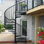 Escape fire spiral staircase , wrought iron spiral stairs , hot galvanized spiral stair