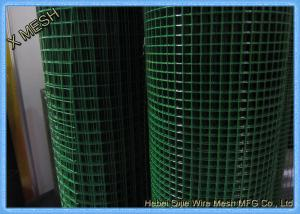 Welded PVC Coated Wire Mesh Panels Roll Rectangular Hole Fit Outdoor ...
