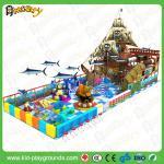 do campo de jogos barato da corrediça do parque de diversões das crianças do tema do navio de pirata do preço de fábrica equipamento interno