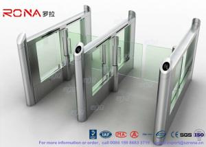 China CE Luxury Speed Automated Gate Systems Bi-Direction Motorized For Card Reader supplier