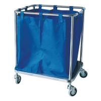 China Laundry Cleaning Mobile Feculence Medical Cart On Wheels Aluminum Alloy Trolley on sale