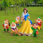 Fiberglass Statue Snow white and seven dwarfs garden statues