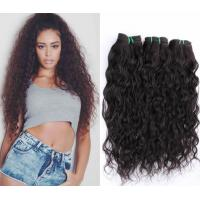 China Raw Wavy Hair Extentions Braiding Indian Natural Human Hair Wigs Weave Soft And Smooth 1b# Color on sale