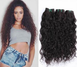 China Raw Wavy Hair Extentions Braiding Indian Human Hair Weave Soft And Smooth 1b# Color on sale