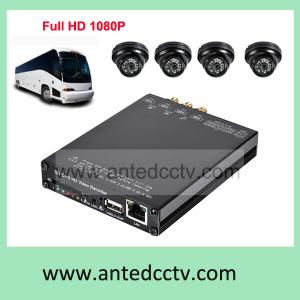 China HD 1080P 4 cameras Mobile DVR systems with GPS, WIFI Vehicle Video Recorder with 3G function on sale