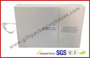 China White Magetic Electronics Packaging / Custom Advertising Video Box on sale