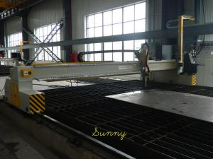 China Double Drive Flame CNC Cutting Machine 5000mm Track Gauge for H-beam Production on sale