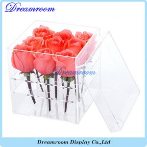 China Acrylic Flower Box Vase for Wedding and Home 9 Hole 2 Tiers Handmade on sale
