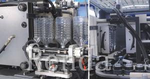 China Machine de soufflement en plastique de fabrication de bouteille d'ANIMAL FAMILIER avec le contrôleur stable de PLC on sale