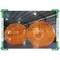 Orange Inflatable Human Hamster Ball for Water , Inflatable Rolling Ball