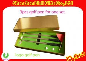 China supply Good promotion gift novel Mini golf ball pen with logo on sale