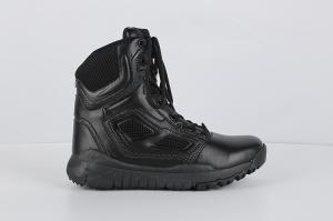 China CQB.SWAT Genuine Leather Zipper Detal Mens Boots Army Combat Boot on sale
