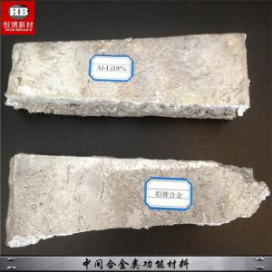 China AlLi Alloy Aluminium Master Alloy For Improve Aluminum Product Physical Properties on sale