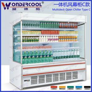 25m hot sales commercial supermarket open fridge showcase refrigerator - Commercial Refrigerator For Sale