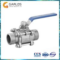 China Stainless steel butt-weld 3pc ball valve on sale