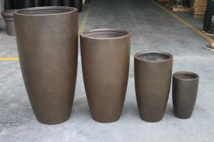 China Factory Hot sales light weight waterproof durable  outdoor concrete planter pots on sale
