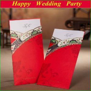 Korean style wedding invitations 2014 red personalized wedding korean style wedding invitations 2014 red personalized wedding cards with envelopes and seal stopboris Images