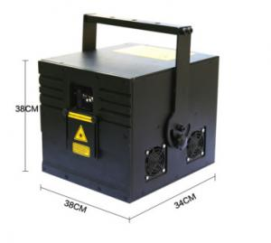 China 3W RGB Disco Laser Stage Light 12CH DMX Channel , 50000h Working Lifetime on sale