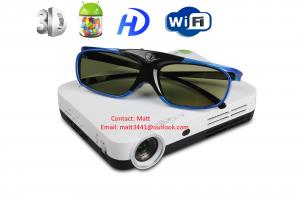 China 3d wifi mini 4.2 Android smart DLP projector with 3d glasses on sale