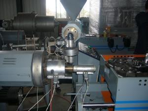 China Maquinaria plástica acanalada de un sólo recinto de la protuberancia del tubo de los PP/del PE para la lavadora on sale