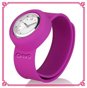 China lovely silicone slap watch for kids on sale