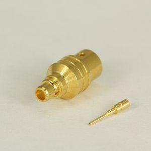 China Straight MMCX RF Connector , Right Angle Solder Mmcx Jack Connector on sale