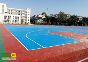 China Badminton Sports Court Surface Tiles Outdoor Gym Flooring Against Cigarette Burns on sale
