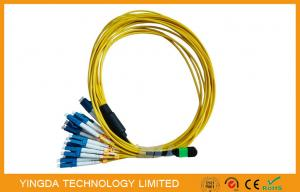 China Multi - Fiber Bundle MTP MPO Cable , MPO - LC Fan Out Patch Cord 2mm on sale
