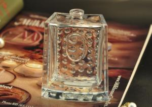 Quality 80ml Rectangle Empty Glass Perfume Bottle hobnail Pattern for Fragrances Packaging for sale