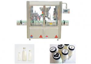 China 4 Heads Bottling Capping Machine , Syrup Liquid Filling And Capping Machine on sale