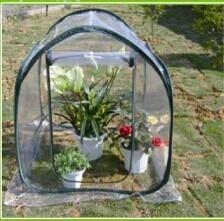 China PVC Cover Steel Tube Mini Green House With Four Wheels / Portable Green Houses on sale