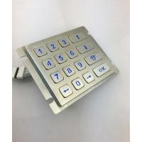 4X4 vandal resistance stainless steel back lighted numeriic keypad