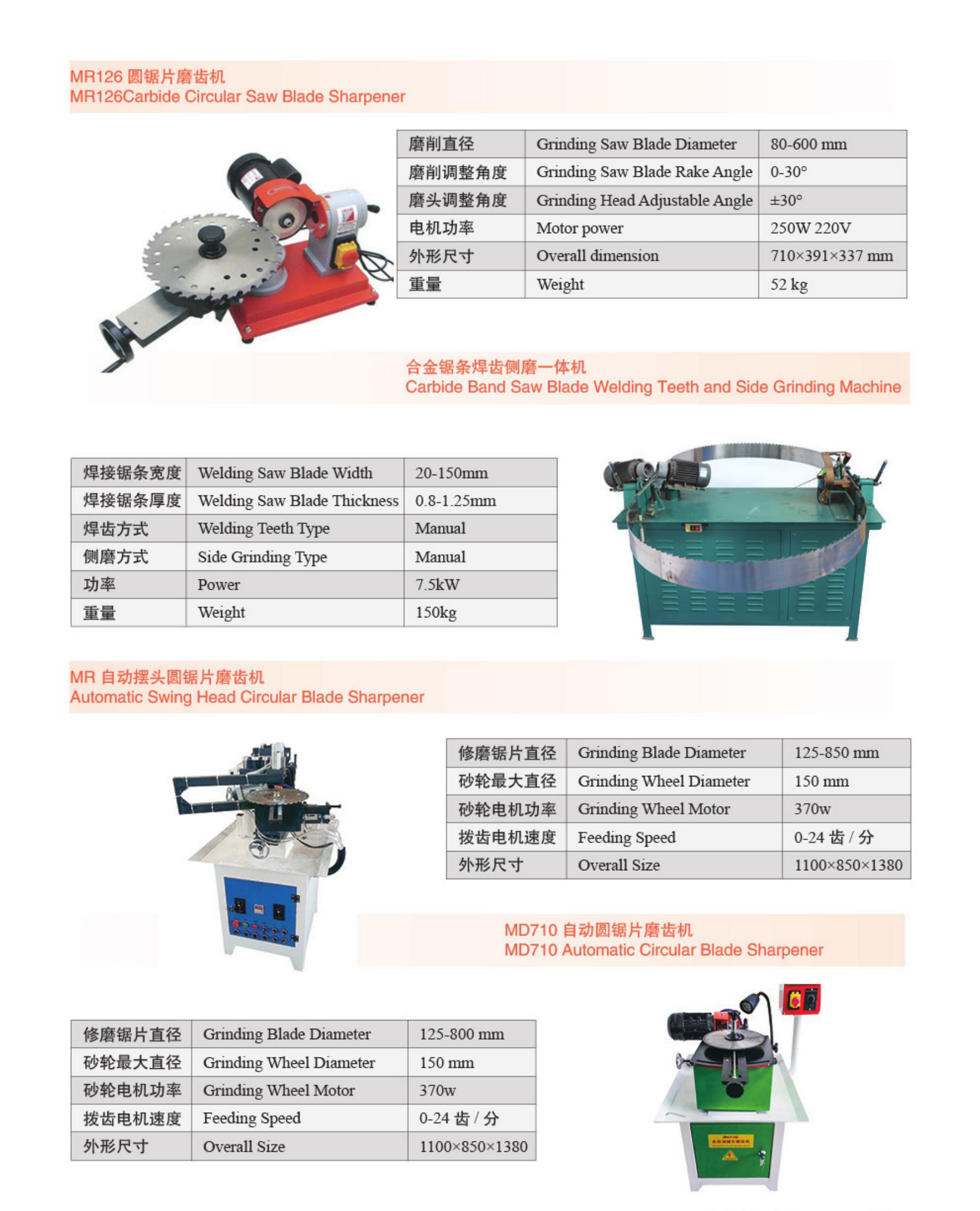 Woodwoking Circular Blade Grinding Machine /carbide saw