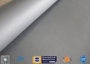China 1.2*50m Alkali Free 18OZ Two Sides 4HS Silicone Rubber Coated Fiberglass Fabric on sale