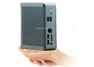 China Wall Mounted Bay Trail J1900 CPU Fanless Mini Desktop PC Box , Nano PC Barebone on sale