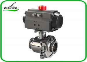 China Tri Clamp Sanitary Ball Valves With Aluminum Pneumatic Actuator , Non Retention on sale