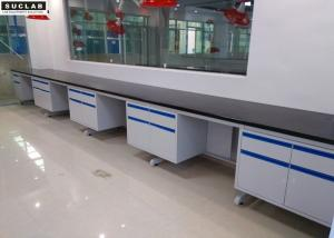 China Customized Color Steel Lab Furniture , Epoxy Resin Tops Lab Tables Work Benches on sale