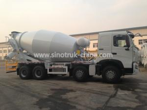 China 371hp 8×4 4 Axle Concrete Mixer Truck Color Optional With 16 Cbm Tanker on sale