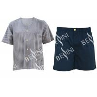China Customized Size Mens Silk Pajama Set , Environmental Mens Pajama Shorts Set on sale